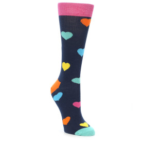 21875-Navy-Multi-Color-Hearts-Women's-Dress-Socks-Happy-Socks01