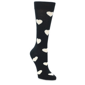 21876-Black-White-Hearts-Women's-Dress-Socks-Happy-Socks01