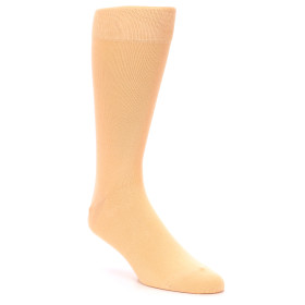 21885-Peach-Solid-Color-Men's-Dress-Socks-boldSOCKS01