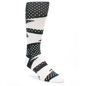 21886-Black-White-Polka-Dot-&-Stripe-Men's-Casual-Socks-STANCE01