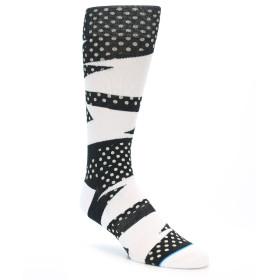 21886-Black-White-Polka-Dot-&-Stripe-Men's-Casual-Socks-STANCE01