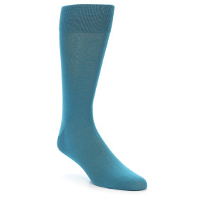 21889-Teal-Solid-Color-Men's-Dress-Sock-Vannucci01