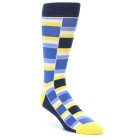 21891-Blues-Yellow-White-Stacked-Men's-Dress-Socks-Statement-Sockwear01