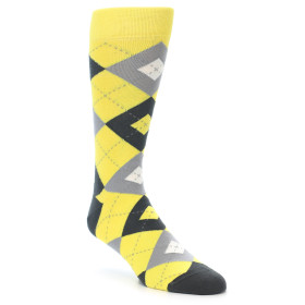 21893-Daisy-Yellow-Grey-Argyle-Men's-Dress-Socks-Statement-Sockwear01