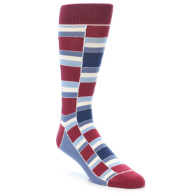 21895-Apple-Red-Blue-Stacked-Men's-Dress-Socks-Statement-Sockwear01