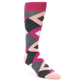 21897-Fuchsia-Pink-Grey-Argyle-Men's-Dress-Socks-Statement-Sockwear01