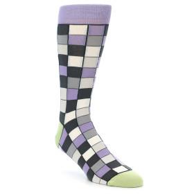 21899-Orchid-Purple-Greys-Checkered-Men's-Dress-Socks-Statement-Sockwear01