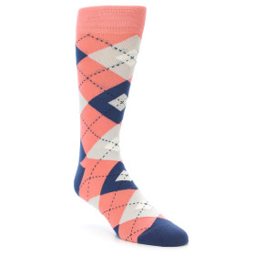 21901-Coral-Navy-Argyle-Men's-Dress-Socks-Statement-Sockwear01