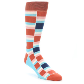 21902-Mandarin-Orange-Stacked-Men's-Dress-Socks-Statement-Sockwear01