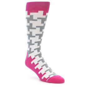 21903-White-Grey-Pink-Patterned-Men's-Dress-Socks-Gallant-Beau01