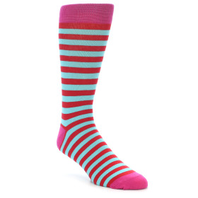 21905-Turquoise-Blue-Red-Stripe-Men's-Dress-Socks-Gallant-Beau01