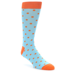 21906-Light-Blue-Orange-Polka-Dot-Men's-Dress-Socks-Gallant-Beau01