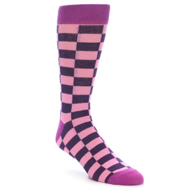 21907-Pink-Purple-Checkered-Men's-Dress-Socks-Gallant-Beau01