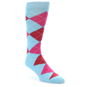 21909-Light-Blue-Red-Pink-Argyle-Men's-Dress-Socks-Gallant-Beau01