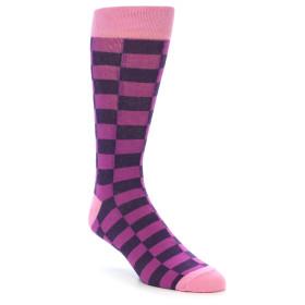 21910-Purple-Checkered-Men's-Dress-Socks-Gallant-Beau01