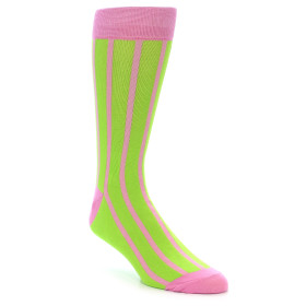 21911-Lime-Pink-Vertical-Stripe-Men's-Dress-Socks-Gallant-Beau01