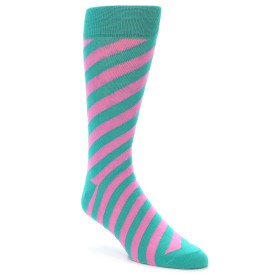 21912-Jade-Green-Pink-Angle-Stripe-Men's-Dress-Socks-Gallant-Beau01