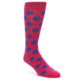 21914-Fuchsia-Royal-Blue-Polka-Dot-Men's-Dress-Socks-Gallant-Beau01