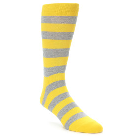 21922-Yellow-Grey-Stripe-Men's-Dress-Socks-Richer-Poorer01