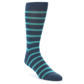 21924-Dark-Blue-Teal-Stripe-Men's-Dress-Socks-Richer-Poorer01