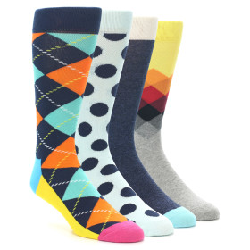 21984-Blue-Orange-Argyle-Mens-Dress-Socks-Gift-Box-4-Pack-Happy-Socks01