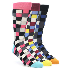 Statement Sockwear Checkered 3 Pack Gift Box