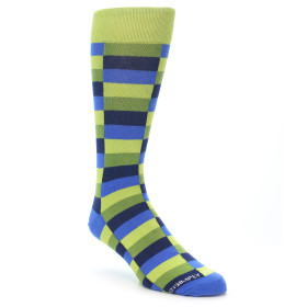 21936-Green-Navy-Blue-Checkered-Men's-Dress-Sock-Unsimply-Stitched01