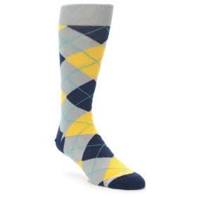 21939-Grey-Gold-Navy-Argyle-Men's-Dress-Sock-Unsimply-Stitched01
