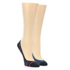 21832-Black-Stripe-Women's-No-See-Um-2-Pack-Socks-PACT01