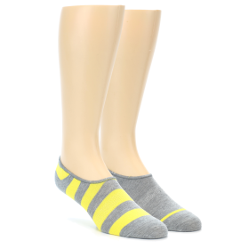 21928-Grey-Yellow-Men's-No-Show-Socks-2-Pack-Richer-Poorer01
