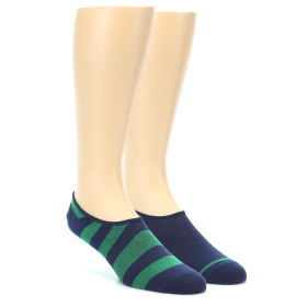 21929-Navy-Green-Men's-No-Show-Socks-2-Pack-Richer-Poorer01