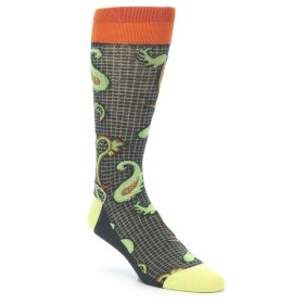 21930-Charcoal-Lime-Orange-Paisley-Men's-Dress-Socks-Vannucci01
