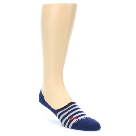 21942-Navy-White-Lobster-Stripe-Men's-No-Show-Socks-Unsimply-Stitched01