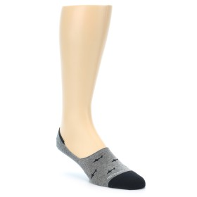 21943-Grey-Black-Sharks-Men's-No-Show-Socks-Unsimply-Stitched01