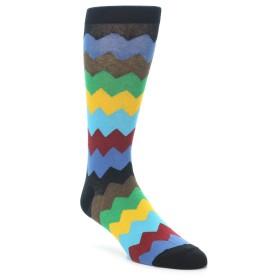 21948-Multi-Color-Zig-Zag-Stripe-Men's-Dress-Socks-K.-Bell-Socks01