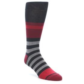 21951-Grey-Red-Stripe-Men's-Dress-Socks-Yo-Sox01
