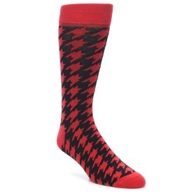 21957-Red-Black-Houndstooth-Men's-Dress-Socks-Yo-Sox01