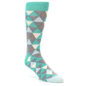 21963-Green-Grey-Brown-Triangles-Men's-Dress-Socks-PACT01