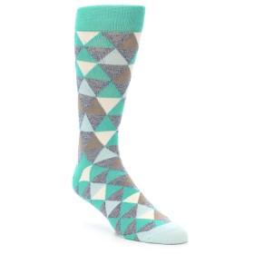 21963-Green-Grey-Brown-Triangles-Men's-Dress-Socks-PACT01