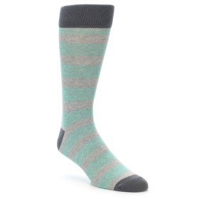 21965-Green-Grey-Stripe-Men's-Dress-Socks-PACT01