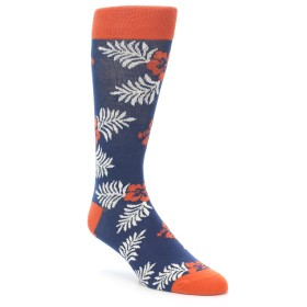 21966-Navy-Tropical-Flowers-Men's-Dress-Socks-PACT01