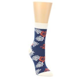 21969-Navy-Tropical-Flowers-Women's-Dress-Socks-PACT01