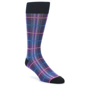 21971-Black-Purple-Blue-Plaid-Men's-Dress-Sock-Vannucci01