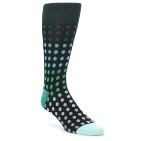 21974-Black-Greens-Polka-Dot-Men's-Dress-Sock-Vannucci01