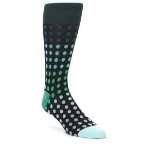 21974-Black-Greens-Polka-Dot-Men's-Dress-Sock-Vannucci01