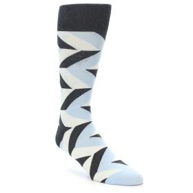 21975-Grey-Light-Blue-Angle-Stripes-Men's-Dress-Sock-Vannucci01