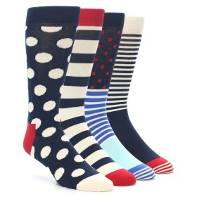 21982-Red-Navy-White-Men's-Dress-Socks-Gift-Box-4-Pack-Happy-Socks01