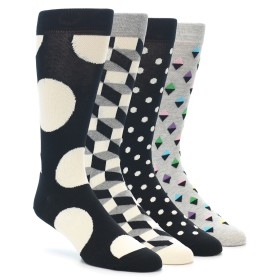 21983-Black-Grey-White-Men's-Dress-Socks-Gift-Box-4-Pack-Happy-Socks01