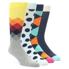 21984-Blue-Orange-Argyle-Mens-Dress-Socks-Gift-Box-4-Pack-Happy-Socks01