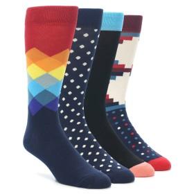 21985-Black-Multi-Dots-Mens-Dress-Socks-Gift-Box-4-Pack-Happy-Socks01